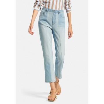 DAY.LIKE 5-Pocket-Jeans Knöchellange Jeans in blau / blue denim / hellblau