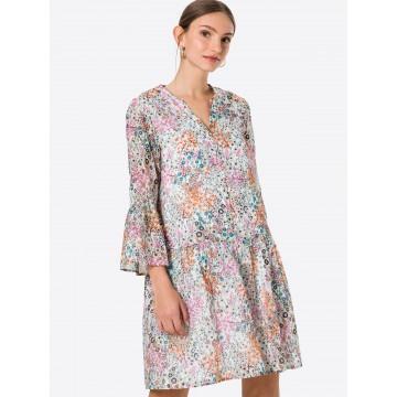 CINQUE Kleid 'CIDAKARO' in royalblau / brombeer / orange / pink / weiß