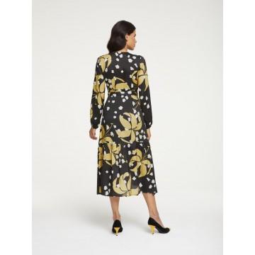 heine Kleid in gelb / schwarz / weiß