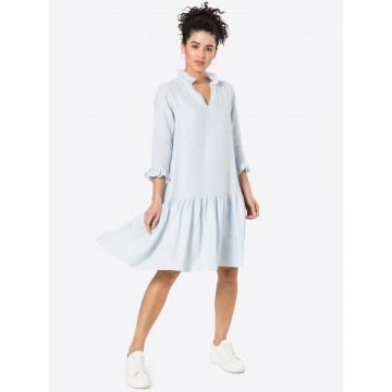 KAN Kleid 'BREEZE' in hellblau / weiß