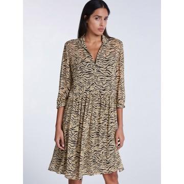 SET Kleid in beige / schwarz