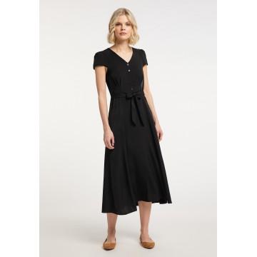 Usha Blusenkleid in schwarz
