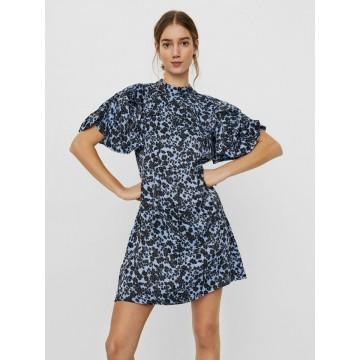 VERO MODA Kleid in blau / schwarz