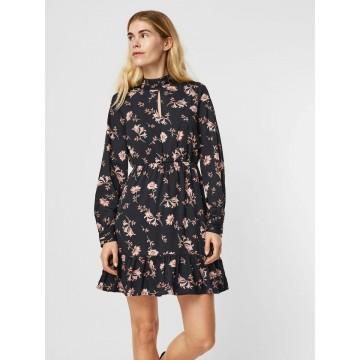 VERO MODA Kleid in pink / schwarz