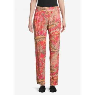 Betty Barclay Hose in braun / gelb / pink / rot
