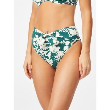 watercult Bikinihose in dunkelgrün / weiß