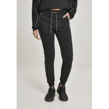 Urban Classics Hose in schwarz / weiß
