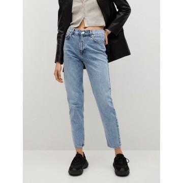 MANGO Jeans 'Mom80' in blue denim