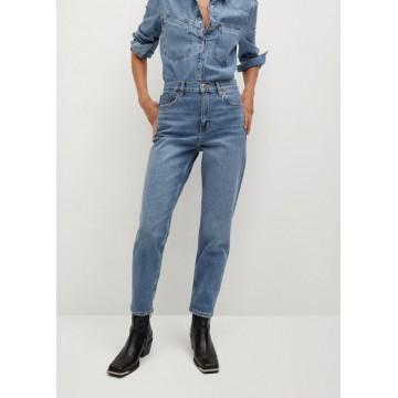 MANGO Jeans 'Newmom' in blue denim