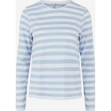 PIECES Shirt in blau / weiß