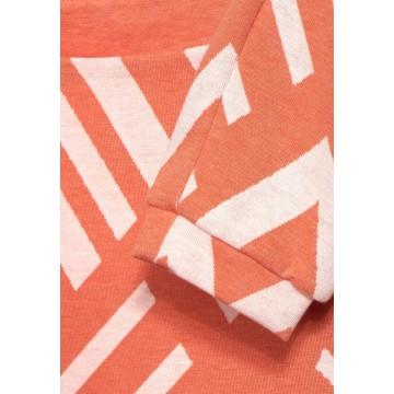 STREET ONE Shirt in orange / weiß