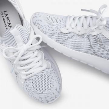 LASCANA Sneaker in hellgrau / weiß