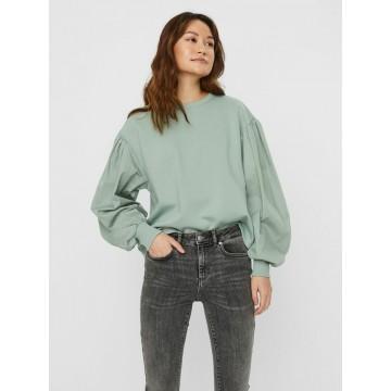 VERO MODA Sweatshirt in pastellgrün