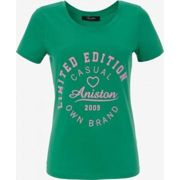 Aniston CASUAL Shirt in grün / pink