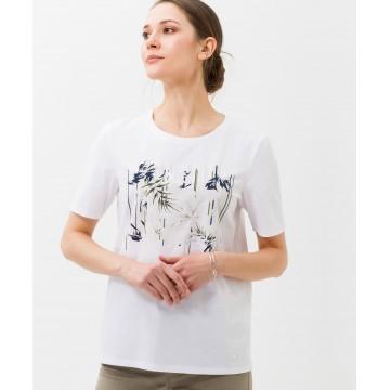 BRAX T-Shirt 'Cira' in navy / oliv / weiß