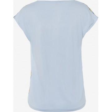 MORE & MORE T-Shirt in beige / blau / gelb / helllila / weiß