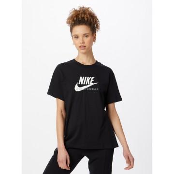 Nike Sportswear T-Shirt 'Heritage' in schwarz / weiß