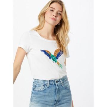 ONLY T-Shirt 'Kita' in beige / dunkelblau / jade / weiß