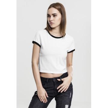 Urban Classics T-Shirt in schwarz / weiß