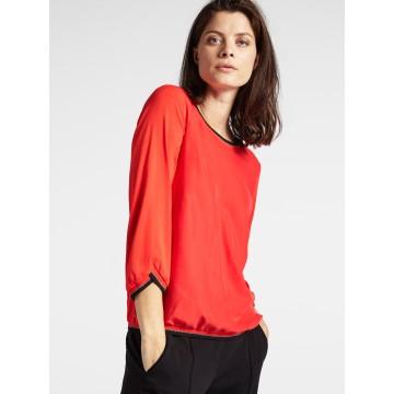 Sandwich Shirt in rot / schwarz